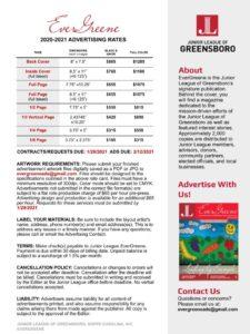 Evergreene Advertising Sheet