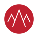 summit logo, red with mountains
